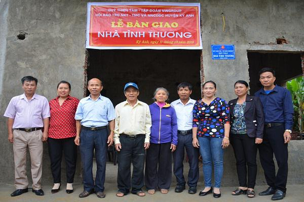 Qũy Thiện tâm xây dựng 7 nhà tình thương cho người Khuyết tật trên địa bàn huyện Kỳ Anh.