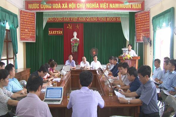 Đoàn Liên Ngành Điều Phối Nông Thôn Mới Tĩnh  làm việc với xã Kỳ Tân về kết quả xây dựng Nông thôn mới.