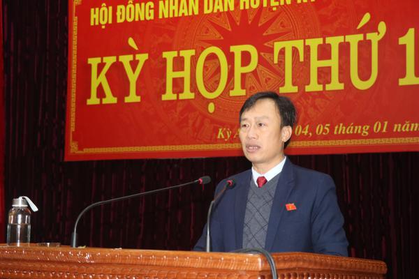 Ông Hoàng Trọng Lý, phó Chủ tịch HĐND huyện khai mạc Kỳ họp