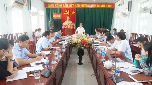 Thường trực Huyện ủy làm việc với các tiểu ban Đại hội Đảng bộ huyện lần thứ XXVI, nhiệm kỳ 2020 – 2025