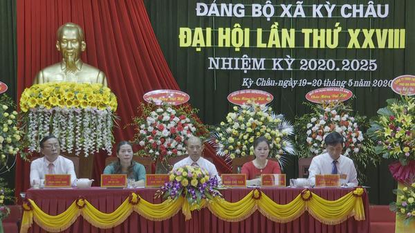 Đảng bộ xã Kỳ Châu tổ chức thành công đại hội lần thứ XXVIII nhiệm kỳ 2020 - 2025