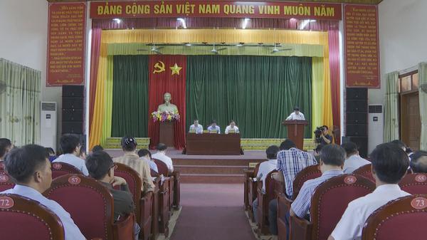 UBND Tỉnh tổ chức buổi làm việc với huyện Kỳ Anh về tiến độ xây dựng huyện đạt chuẩn nông thôn mới.