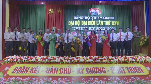 Đảng bộ xã Kỳ Giang đại hội đại biểu lần thứ XXVI, nhiệm kỳ 2020 -2025.
