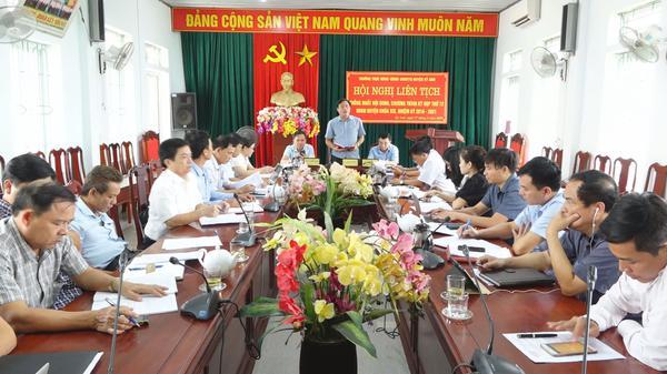 Hội nghị liên tịch triển khai kế hoạch chuẩn bị kỳ họp thứ 12, Hội đồng nhân dân huyện khóa XIX, nhiệm kỳ 2016 – 2021