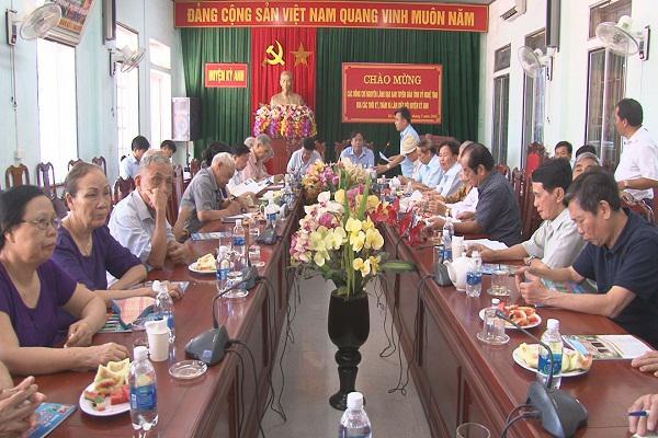 Huyện Kỳ Anh gặp mặt Đoàn cán bộ nguyên lãnh đạo Ban Tuyên Giáo Tỉnh ủy Nghệ Tĩnh qua các thời kỳ.