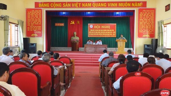 Xã Kỳ Giang tổng kết 10 năm thực hiện Chương trình MTQG  xây dựng nông thôn mới giai đoạn 2010 - 2020
